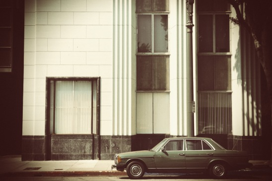 Green Mercedes